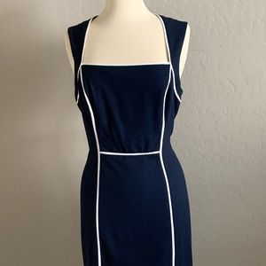 Size 10 White House Black Market Navy Blue dress
